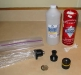 Supplies and pieces for cleaning the Volcano Vaporizer Solid Valve.