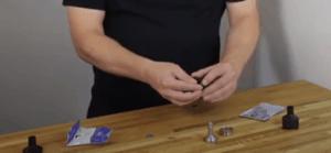 reassembling a broken Volcano easy valve chamber on a desk